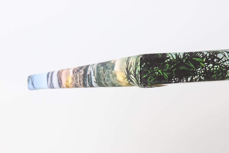 Die Ecken der Fotoleinwand weisen keine Spuren von Weißbruch auf und sind gut verarbeitet.